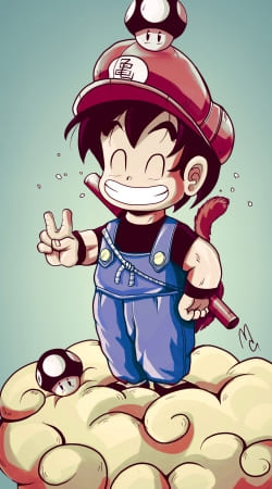 Artwork Goku-mario do Samsung Galaxy ACE 2 i8160