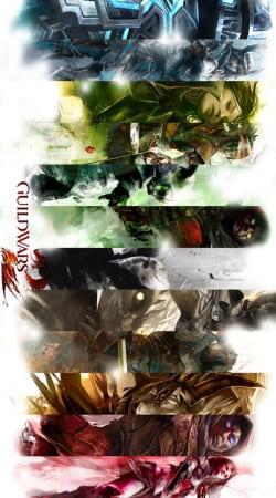Guild Wars 2 All classes art