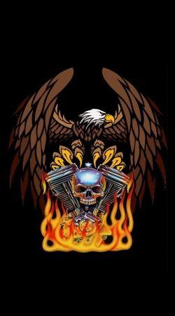 Harley Davidson Skull Engine