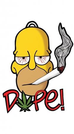 Homer Dope Weed Smoking Cannabis