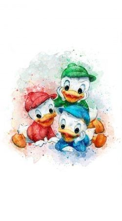 Huey Dewey and Louie watercolor art