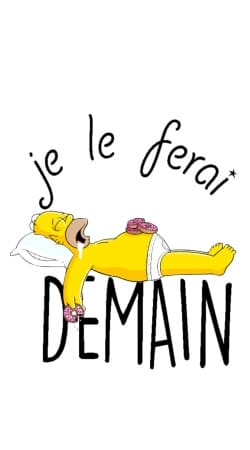 Je le ferai demain Homer Donuts