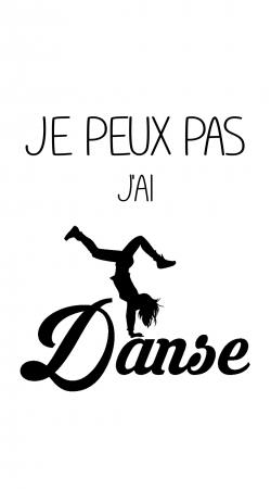 Je peux pas jai danse