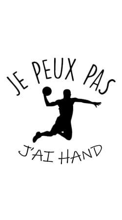 Je peux pas jai handball