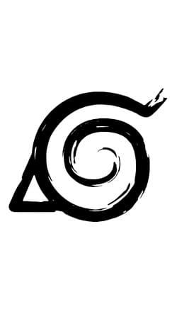 Konoha Symbol Grunge art
