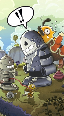 Artwork love robots do Samsung Galaxy ACE 2 i8160