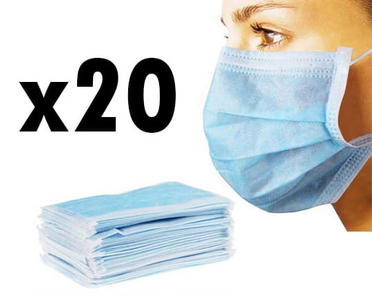 Surgical mask with straps - Anti virus respiratory protection