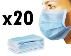 Máscara cirúrgica com correias - Proteção respiratória antivírus