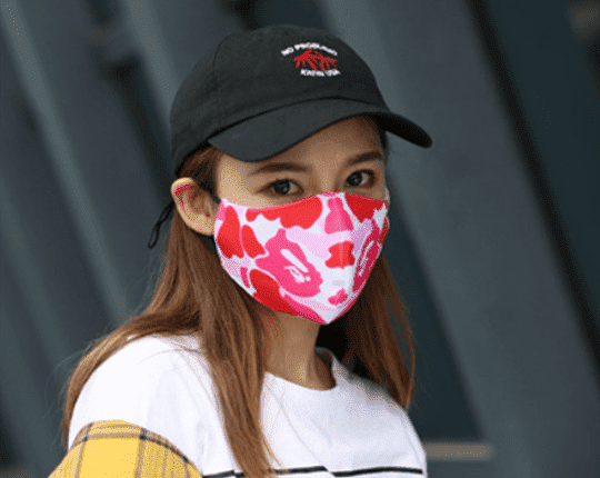Camouflage fabric barrier mask