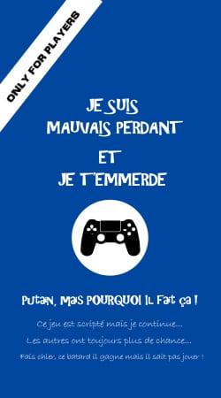 Mauvais perdant - Bleu Playstation