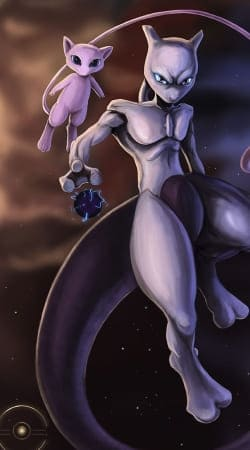 Mew And Mewtwo Fanart