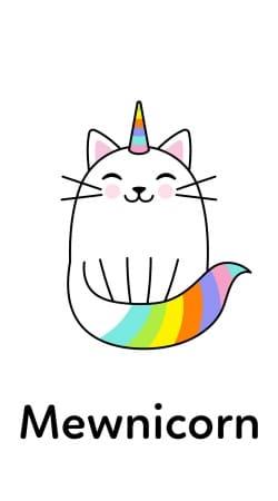 Mewnicorn Unicorn x Cat