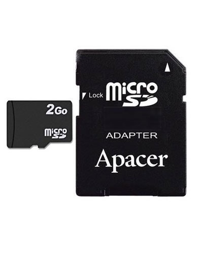 micro sd 2go avec adaptateur acheter micro sd 2go avec. Black Bedroom Furniture Sets. Home Design Ideas