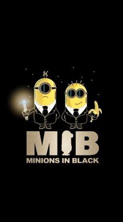 Minion in black mashup Men in black