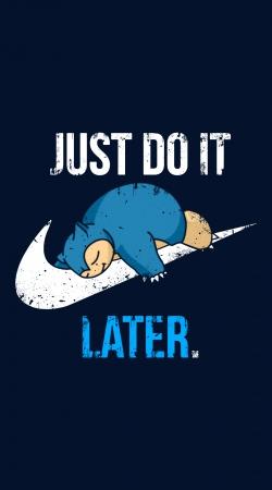 Nike Parody Just do it Late X Ronflex