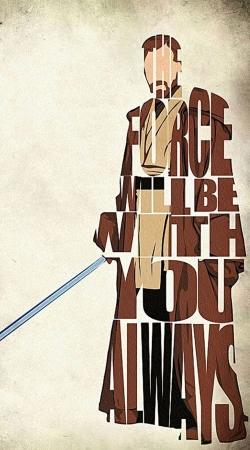 Obi Wan Kenobi Tipography Art