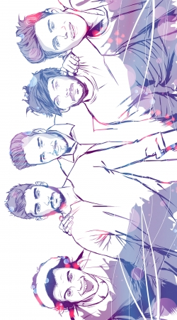Artwork One Direction 1D Music Stars do Samsung Galaxy Young S6310