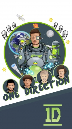 Artwork Outer Space Collection: One Direction 1D - Liam Payne do Samsung Galaxy Young S6310