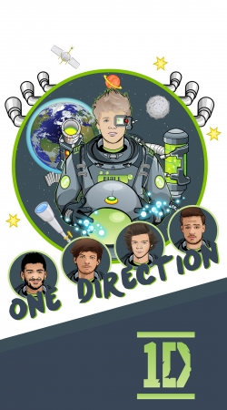 Artwork Outer Space Collection: One Direction 1D - Niall Horan do Samsung Galaxy Young S6310