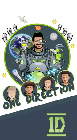 Artwork Outer Space Collection: One Direction 1D - Zayn Malik do Samsung Galaxy Young S6310