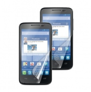 2 in 1 Alcatel One Touch M'Pop Displayschutzfolie