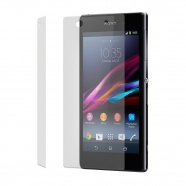 2 in 1 Sony Xperia Z1 Displayschutzfolie