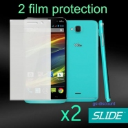 2 in 1 Wiko Slide Displayschutzfolie