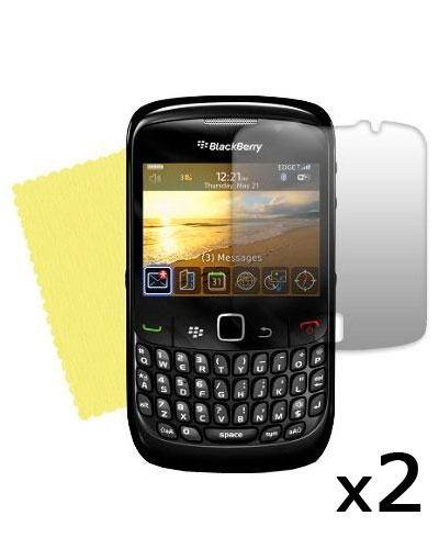 2 Protective Screen Films Blackberry  Curve 8520/9300