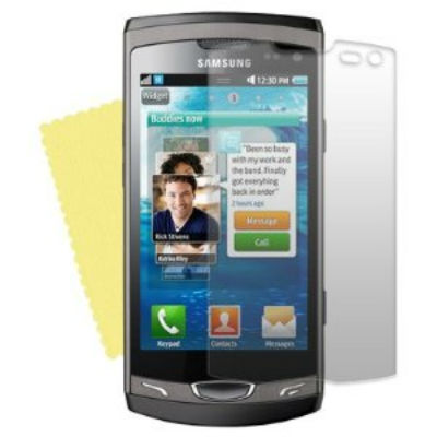 2 Protective Screen Film Samsung Wave 2 S8530