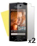 2 Protective Screen Film Sony Xperia Ray ST18