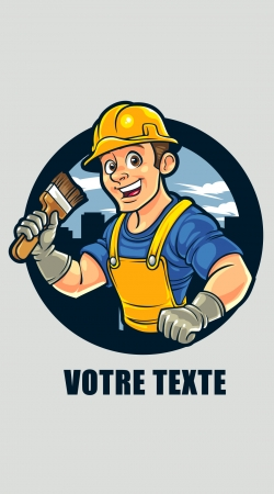 painter character mascot logo