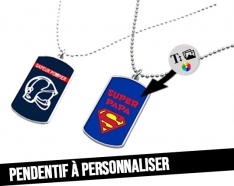 Customizable pendant with military plaque