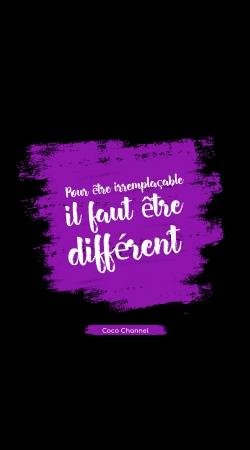 Pour etre irremplacable il faut etre different