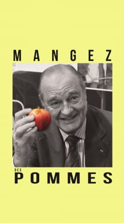 President Chirac Mangez des pommes