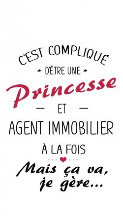 Princesse et agent immobilier