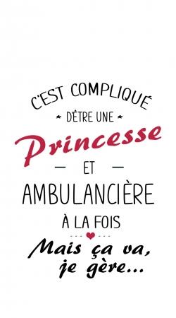 Princesse et ambulanciere
