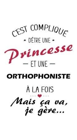Princesse et orthophoniste