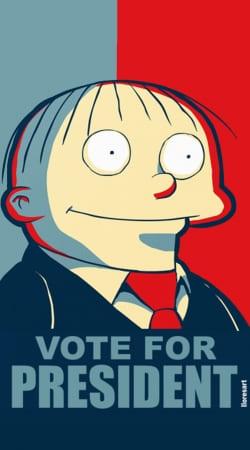 ralph wiggum vote for president