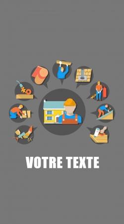 Roofer Logo custom text
