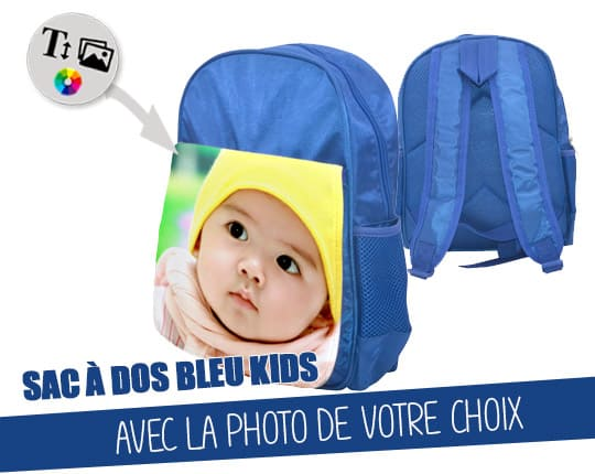 Child blue backpack