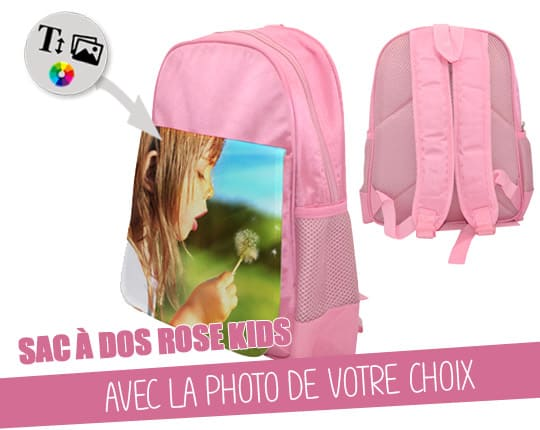 Child pink backpack