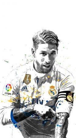 Sergio Ramos Painting Art