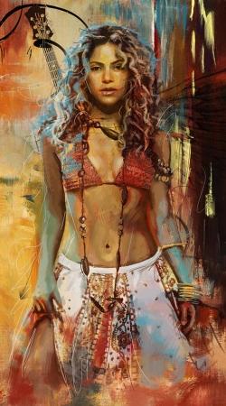Shakira Painting