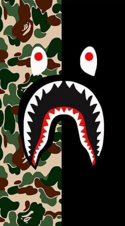 Shark Bape Camo Military Bicolor