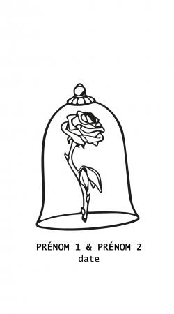 Stamp Inspired Belle Wedding