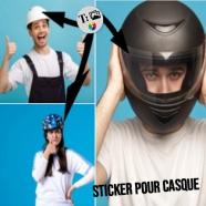 Adesivo redondo para capacete de bicicleta / motocicleta