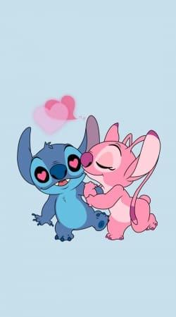 Stitch Angel Love Heart pink