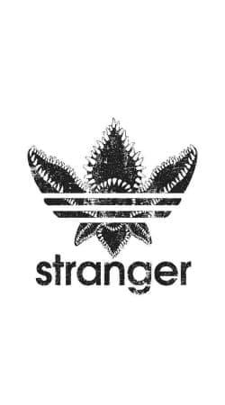 Stranger Things Demogorgon Monster JOKE Adidas Parodie Logo Serie TV