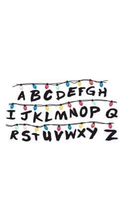 Stranger Things Lampion Alphabet Inspiration