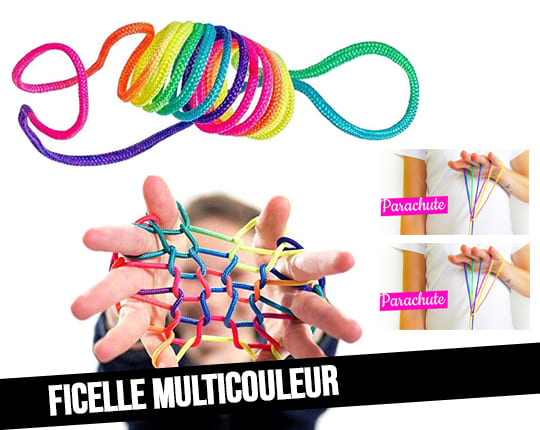String Set multicolored rainbow string